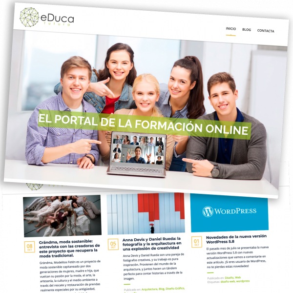 Web design and development with WordPress, Toledo, España, 2021