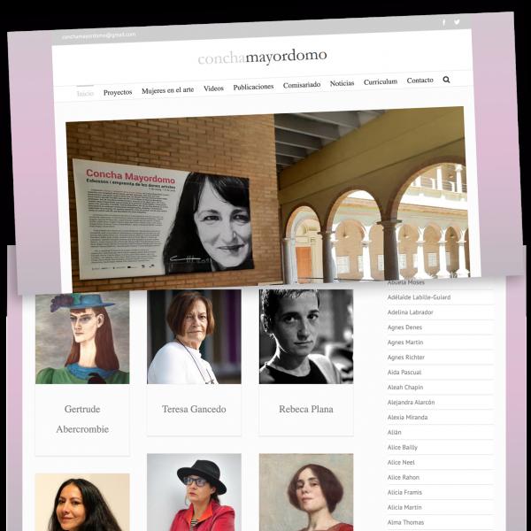 Web development with WordPress, conchamayordomo.com 2017